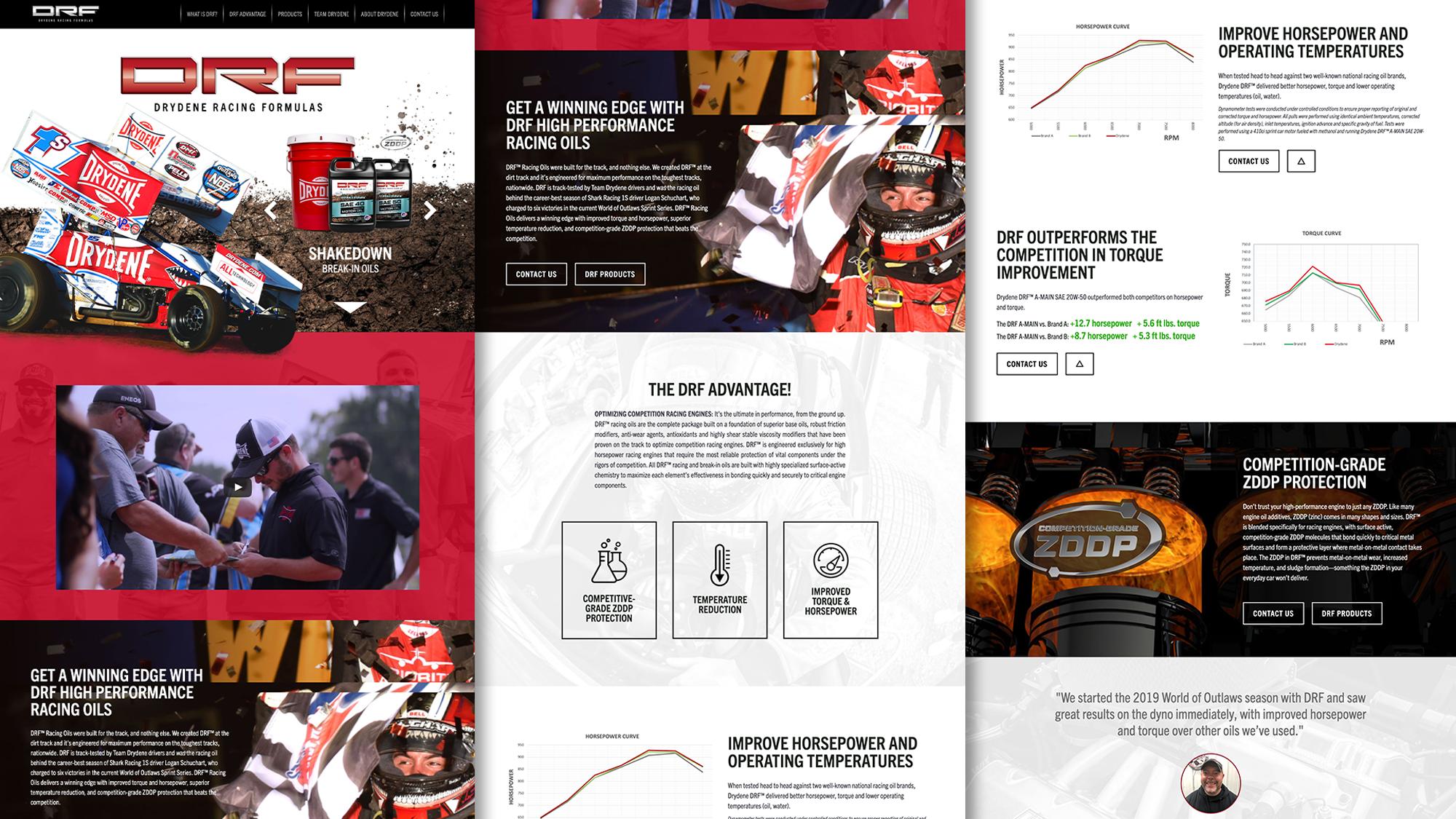 DRFracing.com Website UX, Design and Development