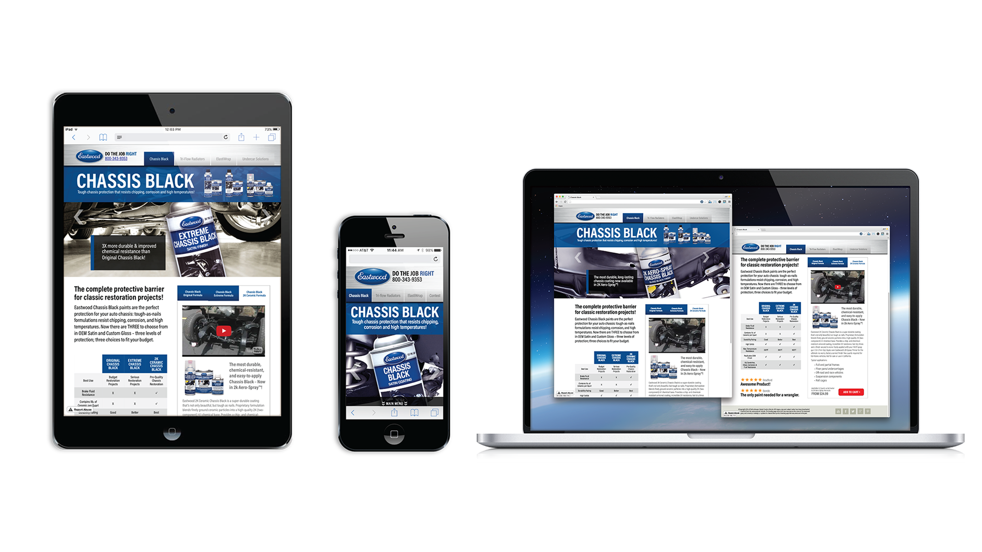 Chassis Black Responsive Product Web Page